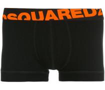 asymmetric logo trunk boxers