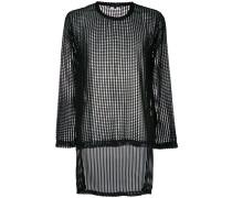 Sweatshirt in Netzoptik