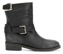 calf length buckle boots