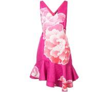 Florales Kleid mit gerüschtem Saum
