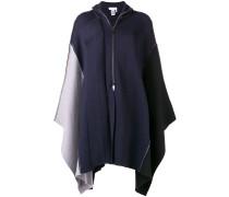 asymmetric zip-up poncho