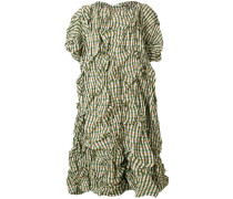 crumpled checked dress