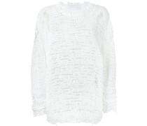 Pullover mit durchbrochenem Strickmuster