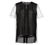 T-Shirt mit semi-transparenten Ärmeln