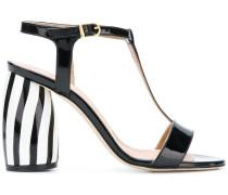 Sandalen mit gestreiftem Blockabsatz