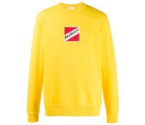 90's inspired logo print sweatshirt