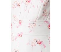 Abendkleid mit Flamingo-Print