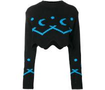 Asymmetrischer Cropped-Pullover