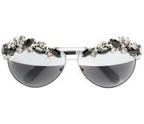 Sonnenbrille mit Kristallen