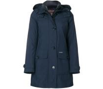 layered raincoat