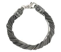 Mehrsträngiges Silberarmband