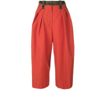 Cropped-Hose in Colour-Block-Optik