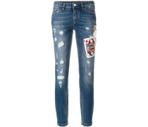 Jeans mit Karte-Patches