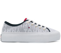 Plateau-Sneakers mit Jacquardmuster