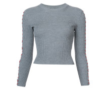 lace detail cropped sweater