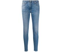 Jeans mit Strassbesatz