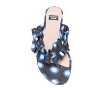 polka dot ruffled thong sandals