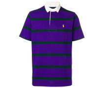 Gestreiftes Poloshirt mit kurzen Ärmeln