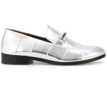 'Melanie' Penny-Loafer in Metallic-Optik