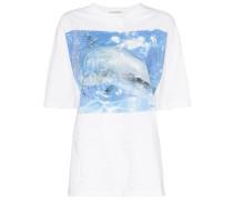 T-Shirt mit Delfin-Print