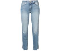 Le High raw edge slit rivet jeans - Unavailable