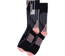 Socken mit geometrischem Motiv