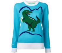 Intarsien-Pullover mit Dinomotiv