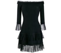 Schulterfreies Kleid mit Tüll