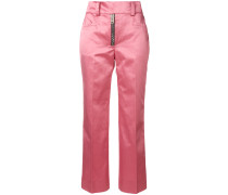 Cropped-Hose mit Glanzeffekt