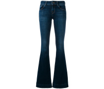 Bootcut-Jeans mit Saumdetail
