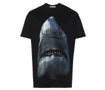oversized shark print t-shirt