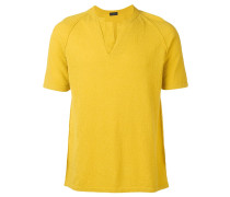 T-Shirt mit geschlitztem Kragen