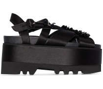 Sandalen mit Blumenmuster, 80mm