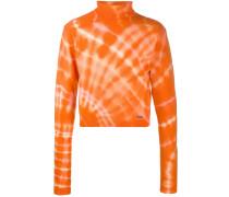 Cropped-Pullover mit Batikmuster