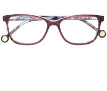 Brille mit rechteckigem Rahmen