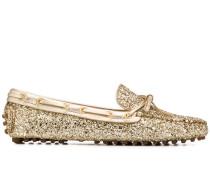 Loafer in Glitter-Optik