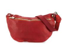 textured style front zip shoulder bag