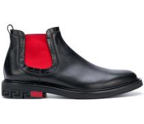 "Chelsea-Boots mit ""Greca""-Motiv"