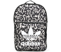 printed logo backpack