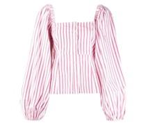 Gestreifte Bluse mit Puffärmeln