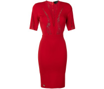fitted lace insert dress