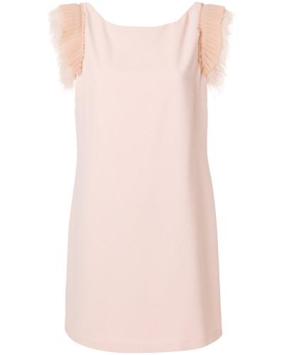 embellished cap sleeve mini dress