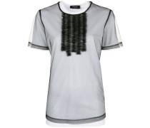 Gerüschtes T-Shirt im Lagen-Look