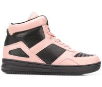 colour block hi-top sneakers