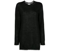 Oversized-Pullover mit rundem Ausschnitt