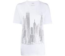 P.A.R.O.S.H. T-Shirt mit Kristallen