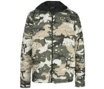 camouflage print hooded jacket