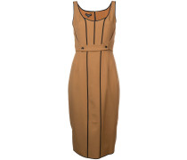 contrast trim fitted dress