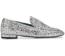 Loafer im Glitter-Look