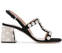 Sandalen mit Kristallen